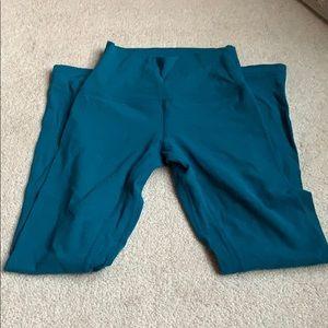 Teal blue lululemon 25in align leggings size 2